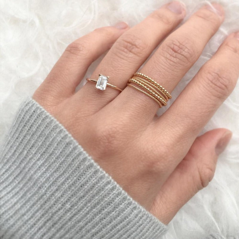 white sapphire ring by jamie park jewelry, unique engagement ring