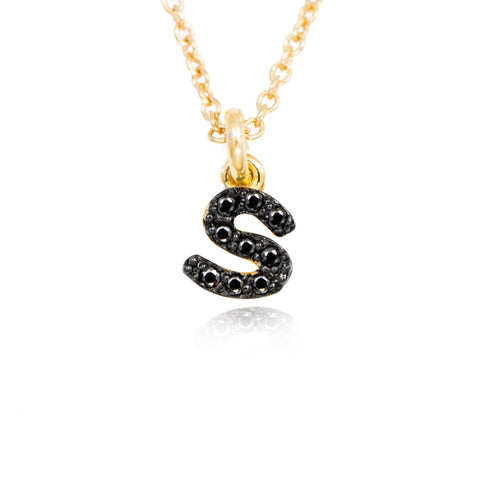 Alphabet S Personalized Name Necklace