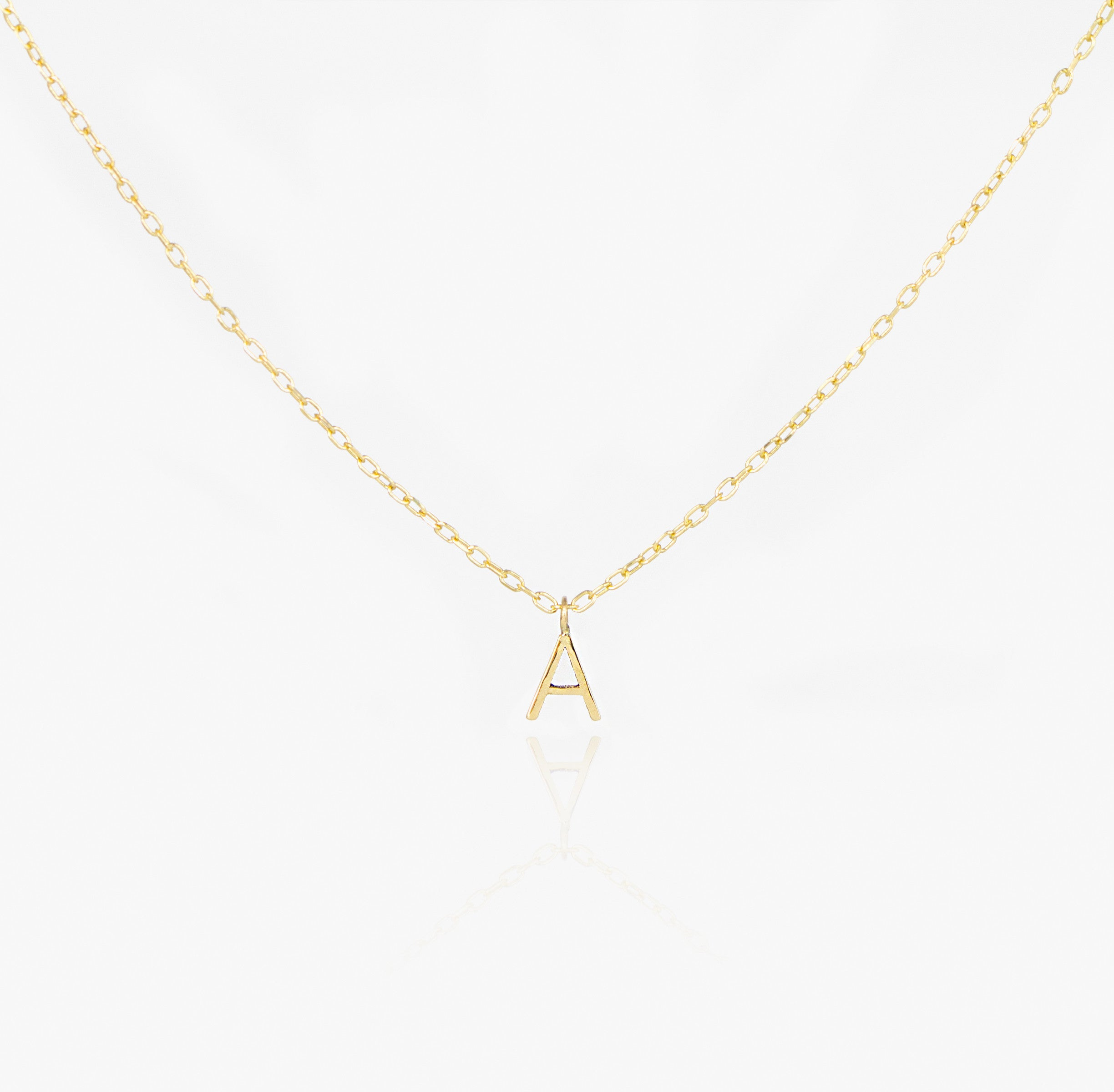 14K Initial Necklace