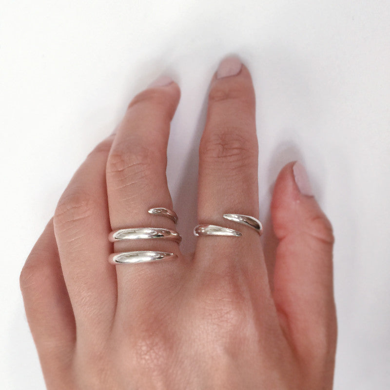 Chunky Claw Cuff Silver Ring by Jamie Park Jewelry