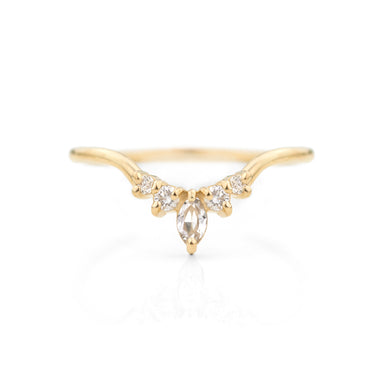 Marquise Contour Band by Jamie Park Jewelry
