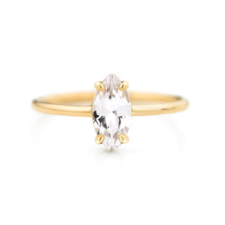 Marquise White Sapphire Ring by Jamie Park Jewelry