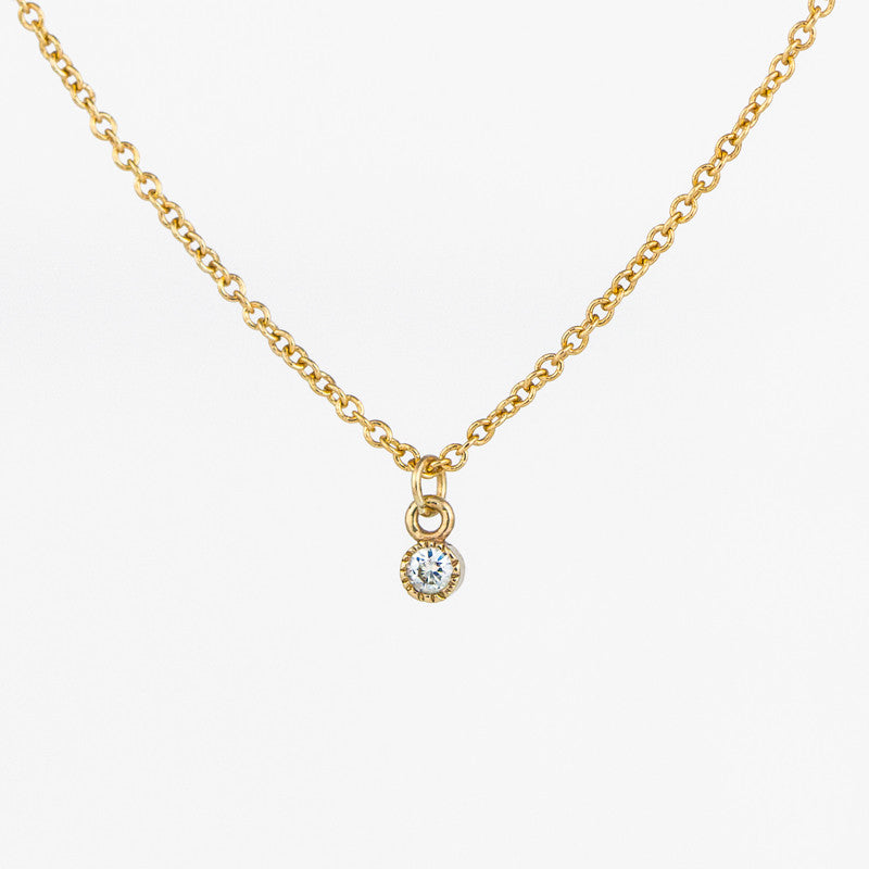 Milgrain Diamond Necklace