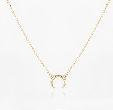 14k gold horn necklace, solid gold necklace, jamie park jewelry