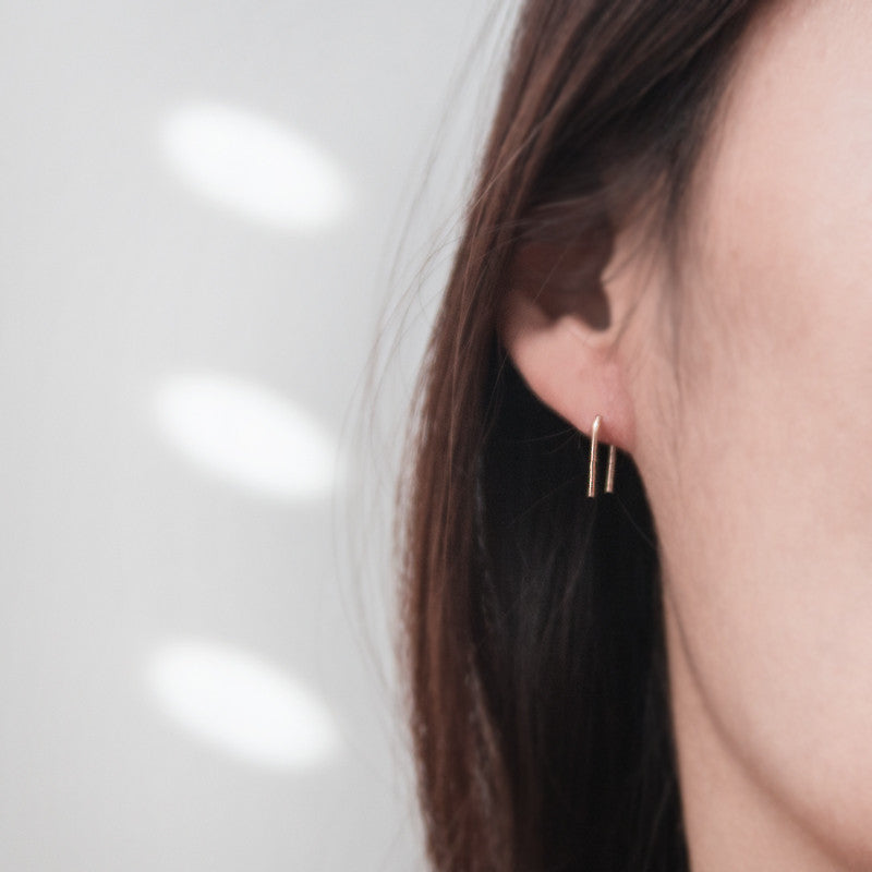 14K solid gold Earrings by jamie park jewelry