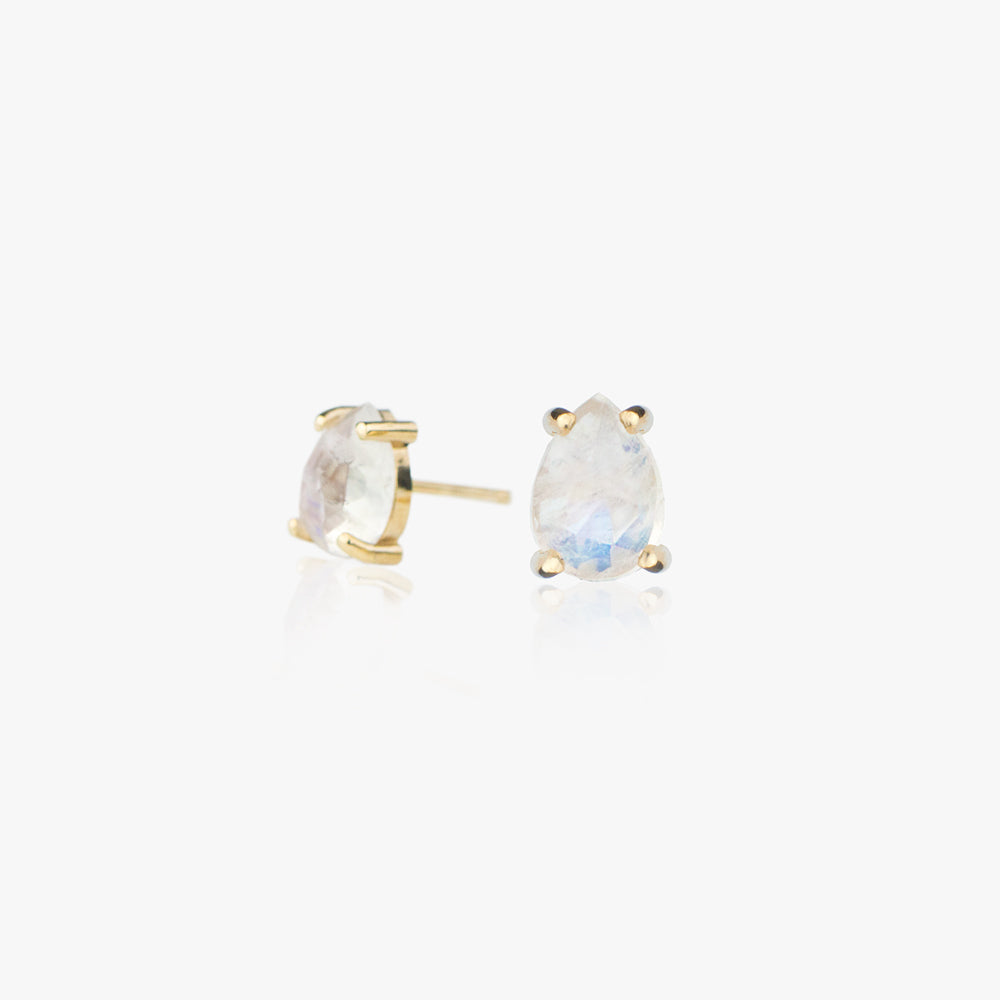 Rose Cut Moonstone Earrings by Jamie Park Jewelry