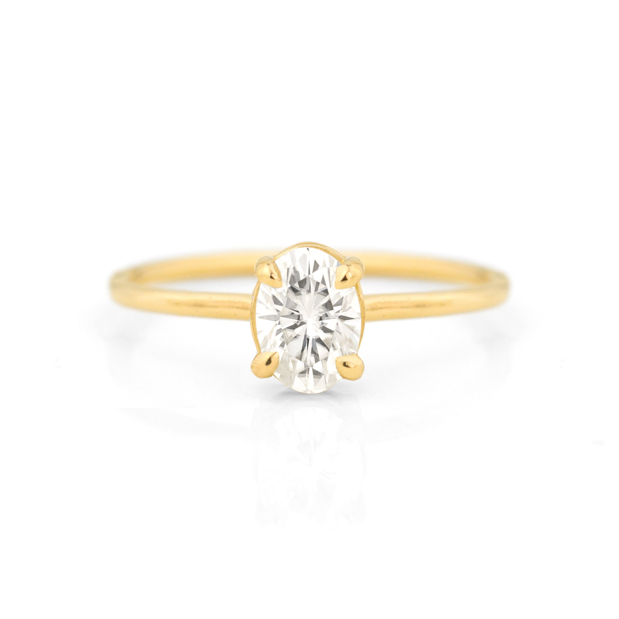 Morgan Oval Moissanite Ring