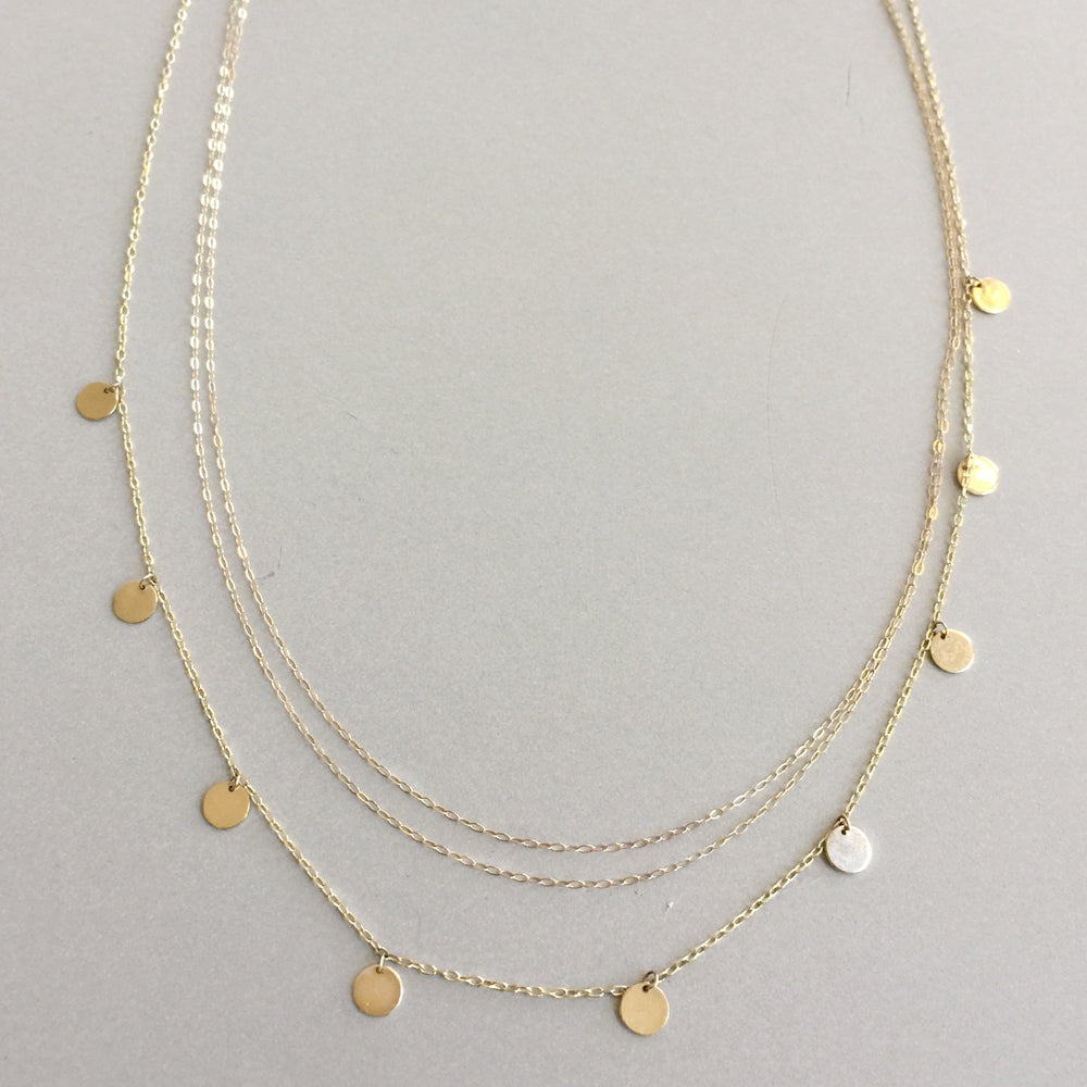 Multi Disc Charm Necklace by Jamie Park Jewelry