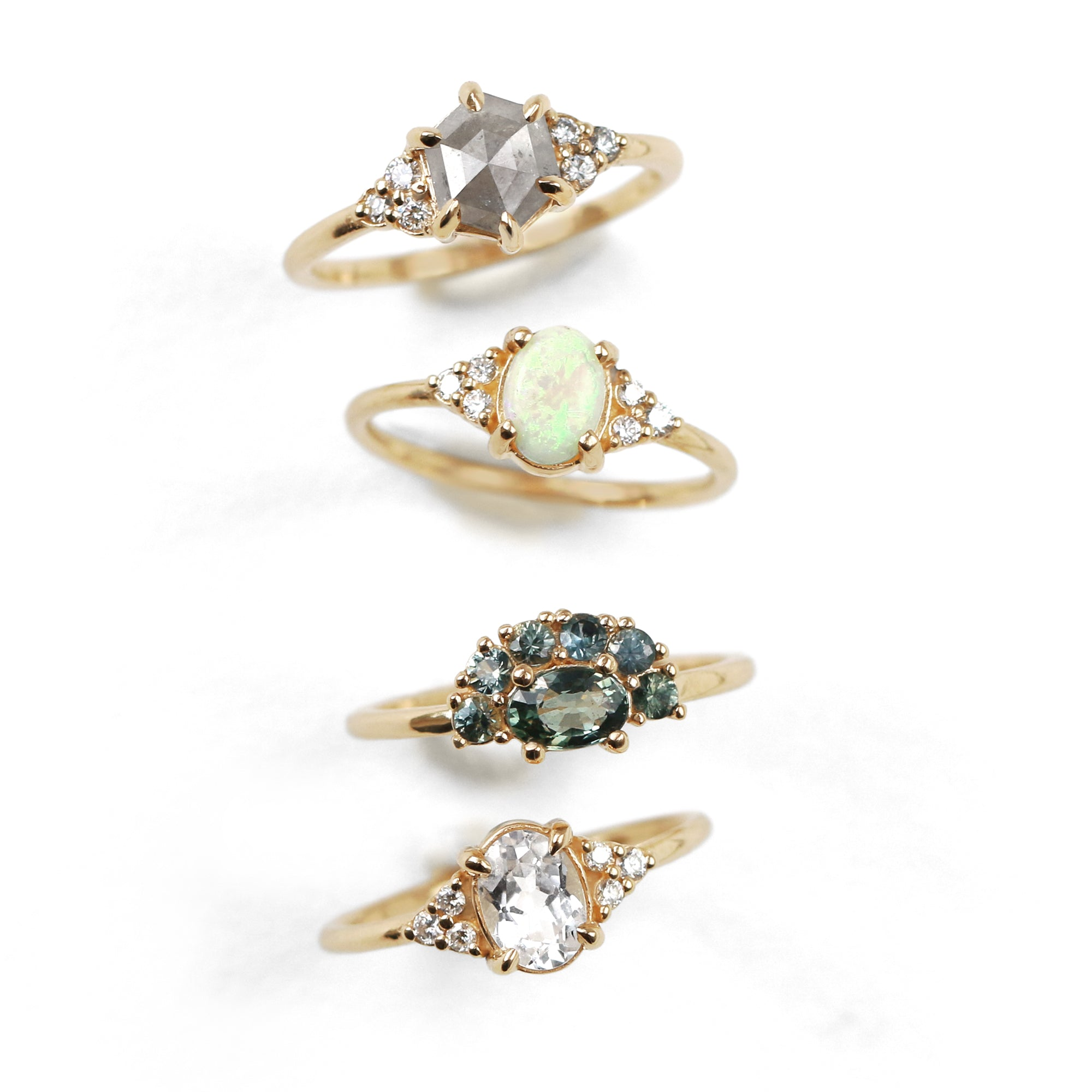 Sienna Opal Diamond Ring