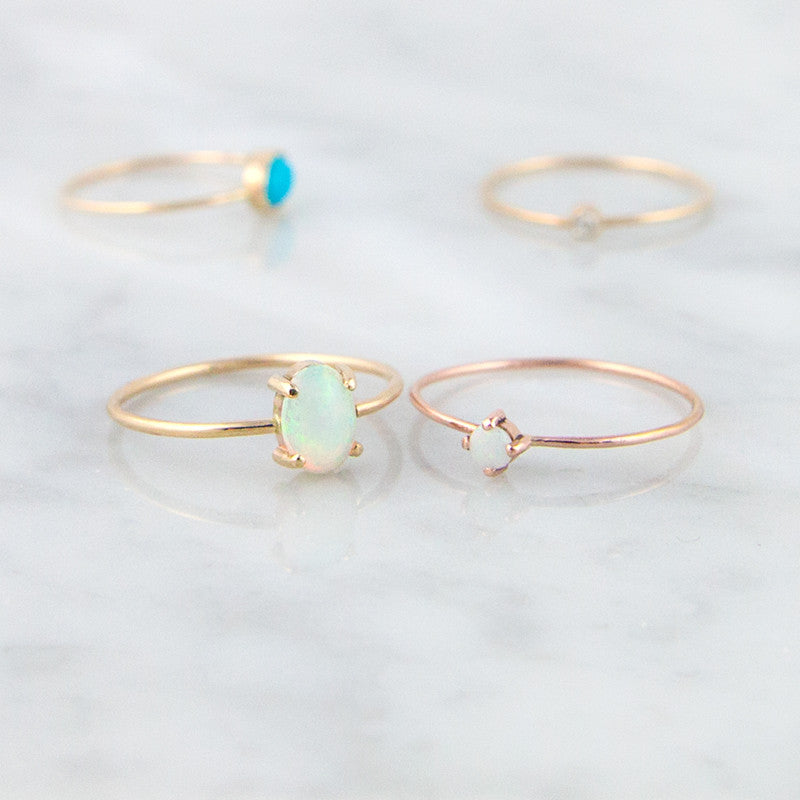 Rose Gold Opal Ring Opal rings by Jamie Park Jewelry USA