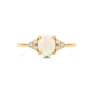 Sienna Opal Diamond Ring | Jamie Park Jewelry