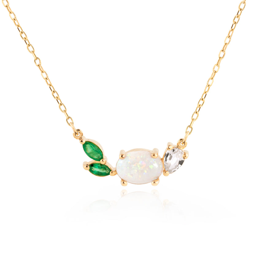 Opal Emerald Necklace by Jamie Park Jewelry