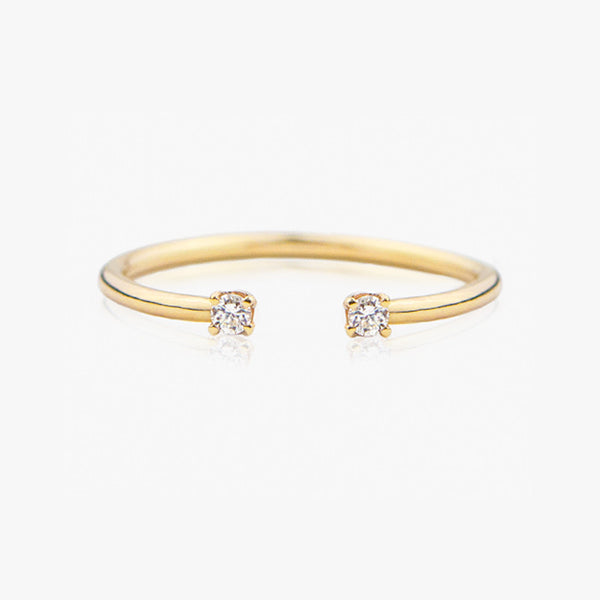Diamond Cuff Ring, Delicate Handmade Jewelry at Jamie Park Jewelry