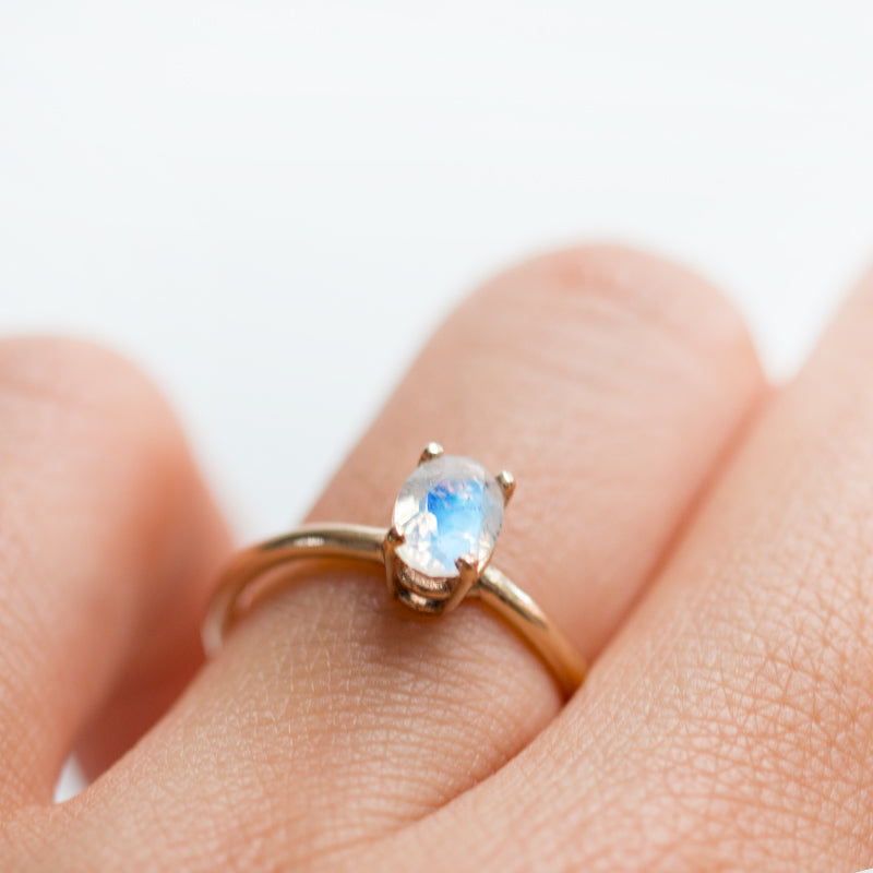 Oval Moonstone Ring by Jamie Park Jewelry USA