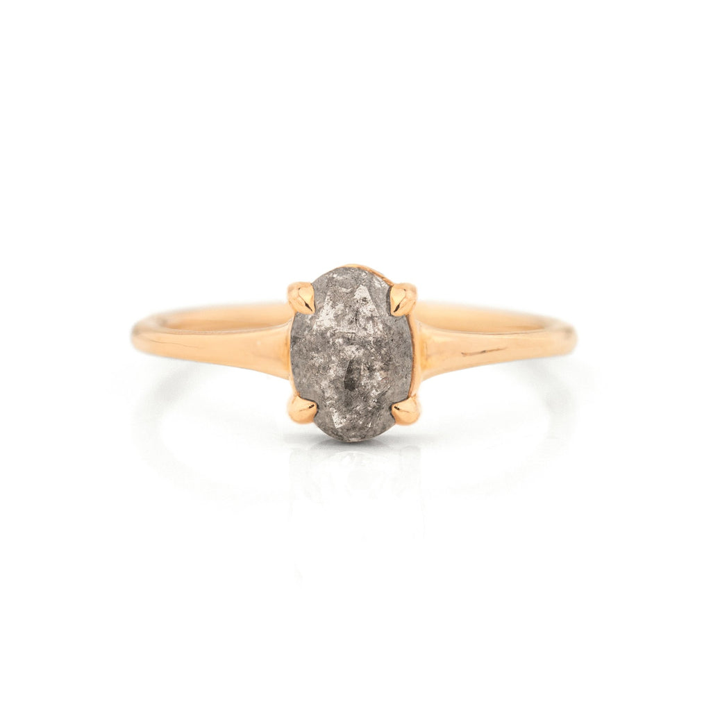 Haven Salt and Pepper Diamond Ring by Jamie Park Jewelry
