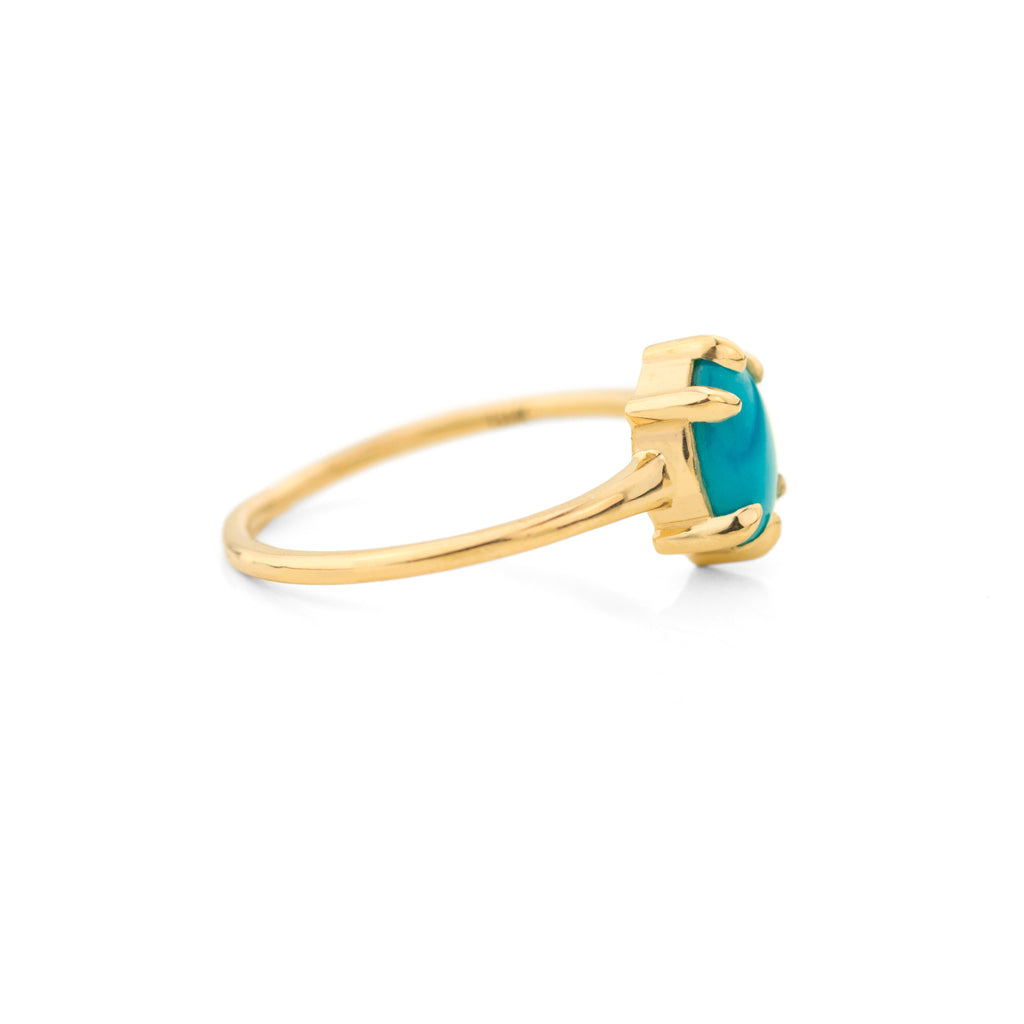 Oval Turquoise Ring by Jamie Park Jewelry