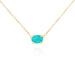 oval turquoise necklace by jamie park jewelry