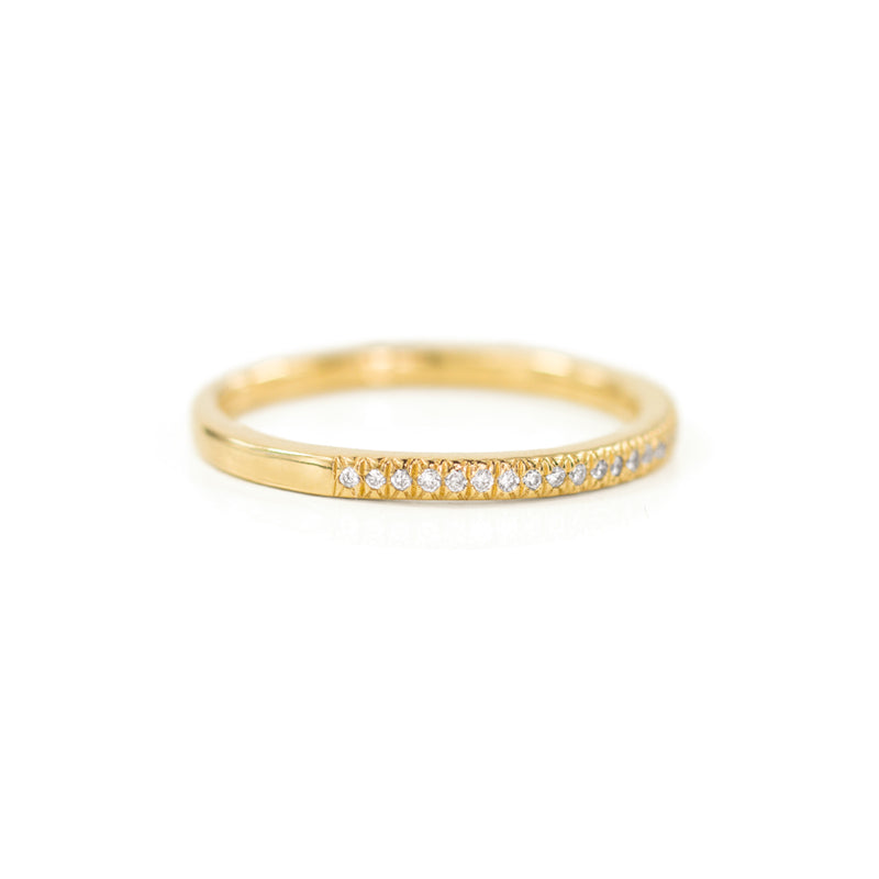 Pavé Half-Eternity Ring