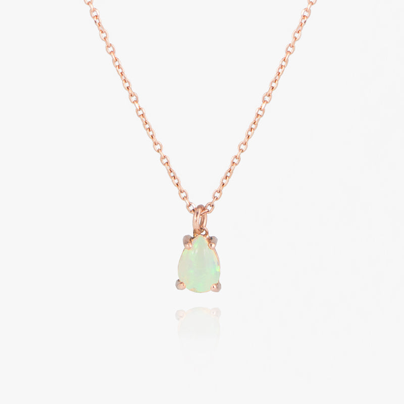 Teardrop Opal necklace by Jamie Park Jewelry USA