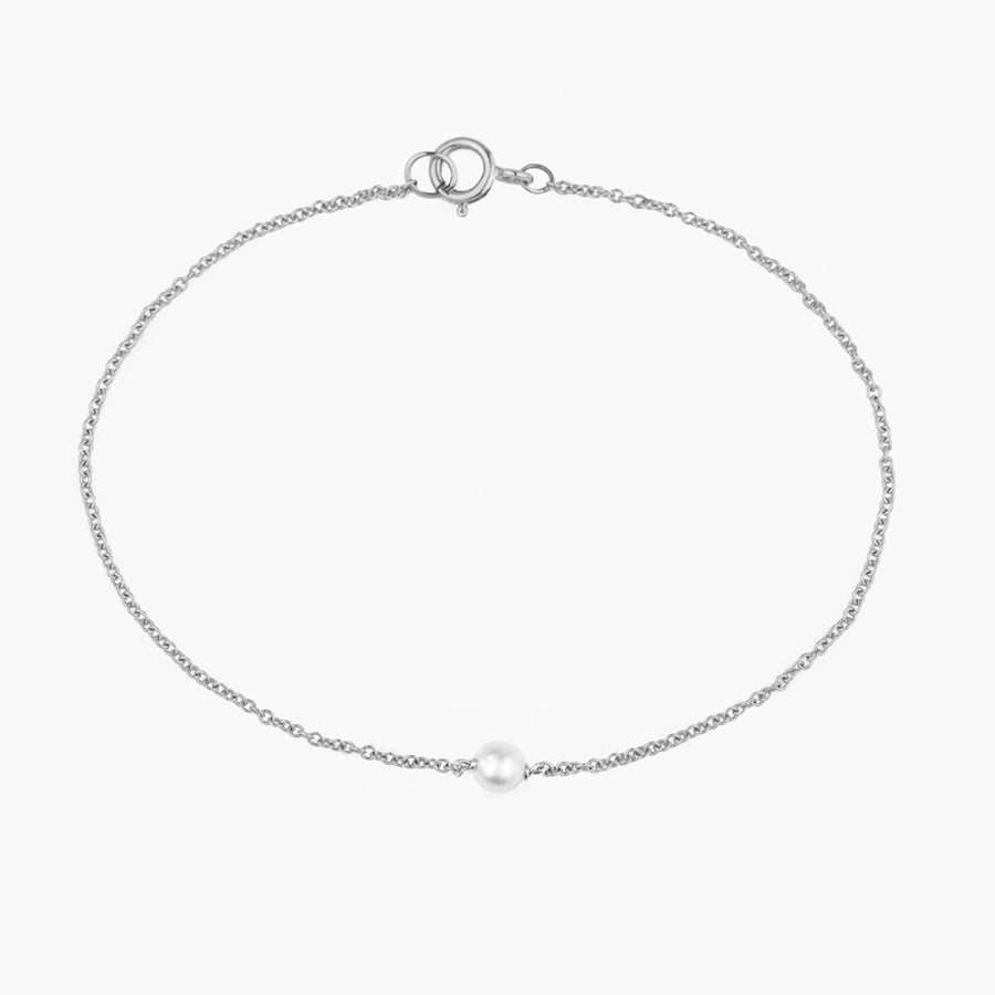 Solo Pearl Bracelet White Gold