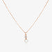 Diamond Pearl Drop Necklace Gold by Jamie Park Jewelry