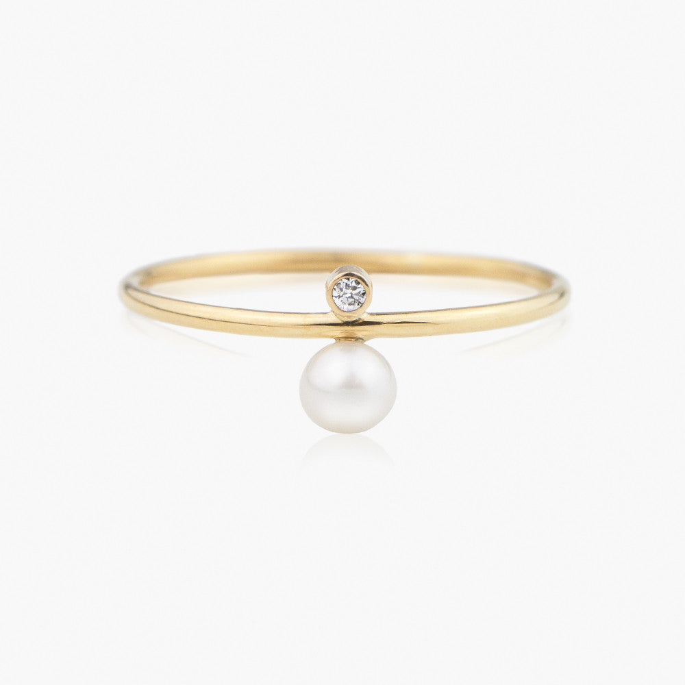 by diamond set dainty wedding artemer gold pin engagement seed ring crown rings pearl