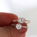 Emerald cut white sapphire ring  by Jamie Park Jewelry USA