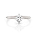 Princess cut white sapphire ring by Jamie Park Jewelry