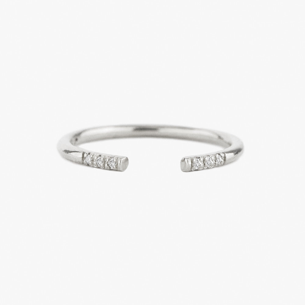 Diamond Ray Cuff Ring by Jamie Park jewelry