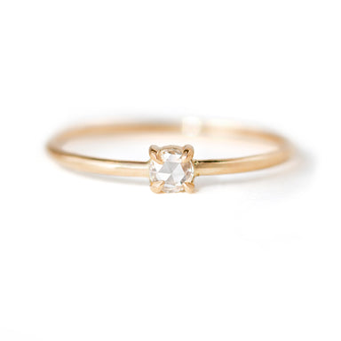Rose cut diamond ring by Jamie Park Jewelry