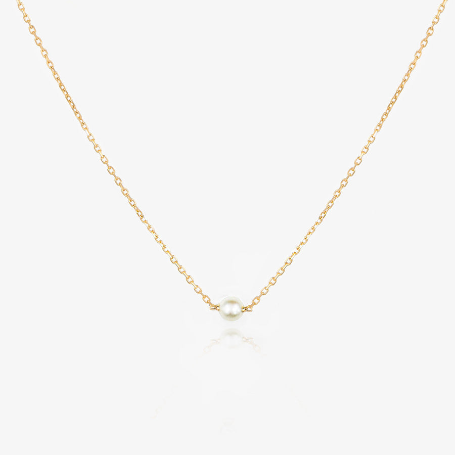 14K Solo Pearl  Necklace by Jamie Park Jewelry