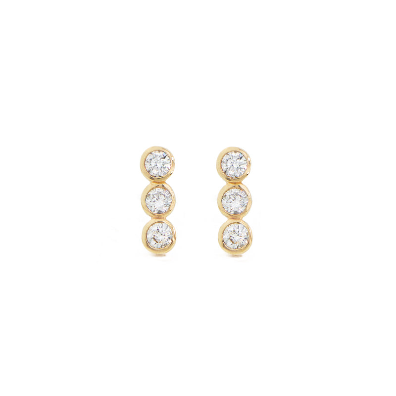diamond bar earrings by jamie park jewelry
