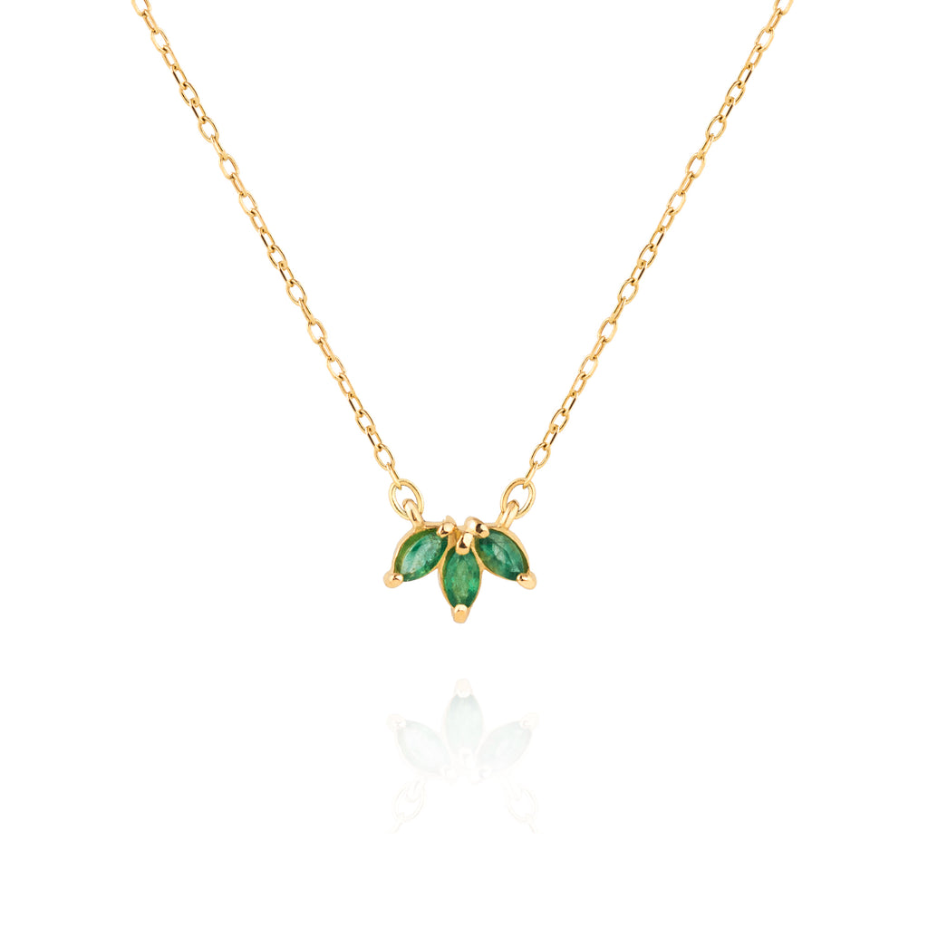 Emerald Trio Necklace by Jamie Park Jewelry