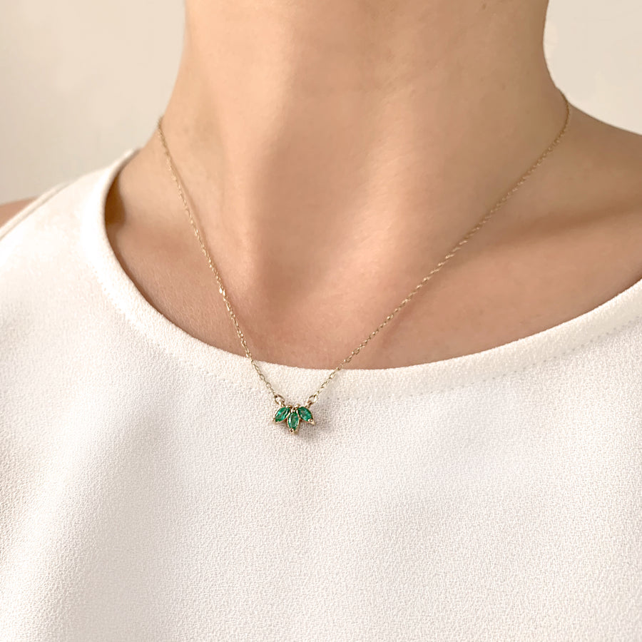 Emerald Trio Necklace