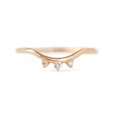 Trio Diamond Contour Band by Jamie Park Jewelry