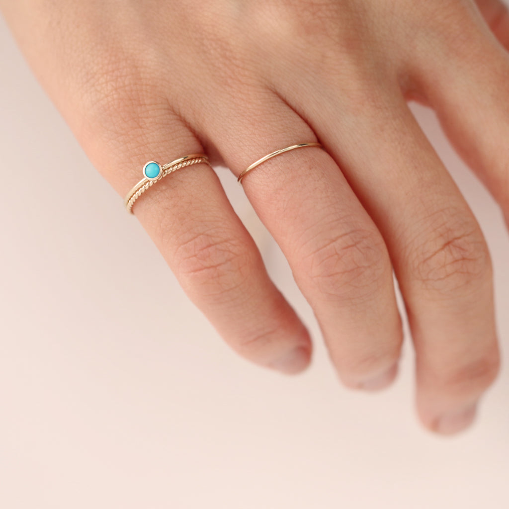 Turquoise Stacking Ring by Jamie Park Jewelry