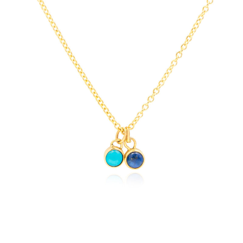 Lapis Turquoise Necklace by Jamie Park Jewelry