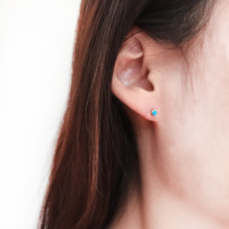 14K Turquoise Studs Earrings