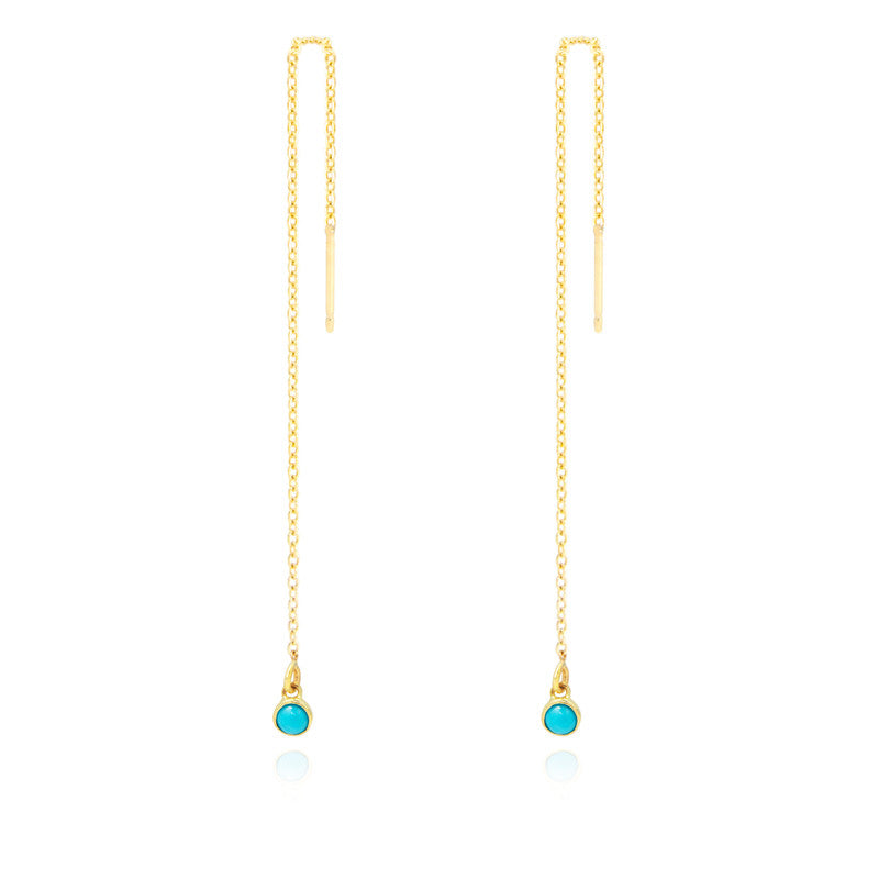 Turquoise Chain Earring Threaders
