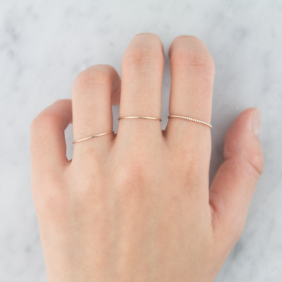 14K Gold Skinny Stacking Ring by Jamie Park Jewelry