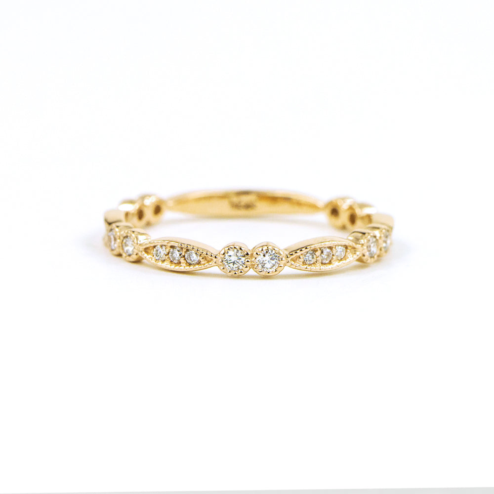 Vine Milgrain Wedding Ring