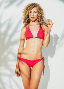 Aurora Triangle Bikini Top in Red -                                         STYLE SUITE
