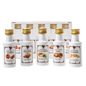 Cold Pressed Nut oils: Hazelnut, Almond, Pumpkin Seed, Peanut & Walnut (5 x 20ml)