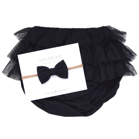 Ballerina Ruffle Bloomer In Black