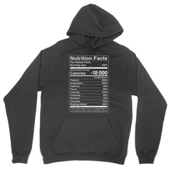 Anime Nutrition Facts Hoodie