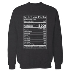 Anime Nutrition Facts Sweatshirt