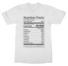 Anime Nutrition Facts T-Shirt