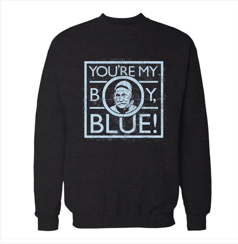 Blue 'Old School' Sweatshirt
