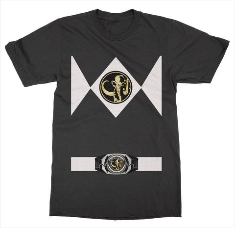 Black Power Ranger Costume T-Shirt