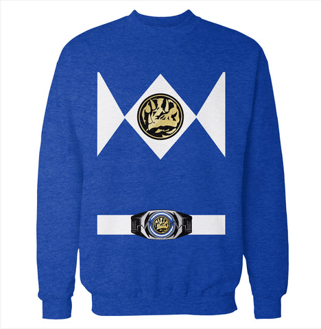 Blue Power Ranger Costume Sweatshirt